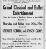 "Display ad for Dorothy Johnson's ""Grand Classical and Ballet Entertainment"", 1919"